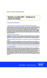 Programme rendez-vous Bell 2007
