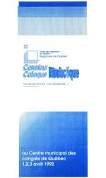 Programme, Colloque Productique 1992, Régionale de Québec de l'OIQ